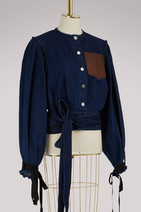J.W.Anderson Cropped denim jacket