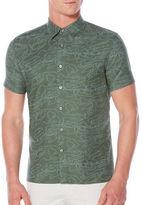 Perry Ellis Camo Oxford Sport Shirt