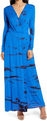 Fraiche by J Tie Dye Long Sleeve Maxi Dress