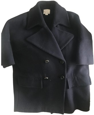 Band Of Outsiders Navy Cotton Coat for Women