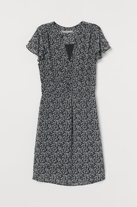 H&M V-neck Dress - Black