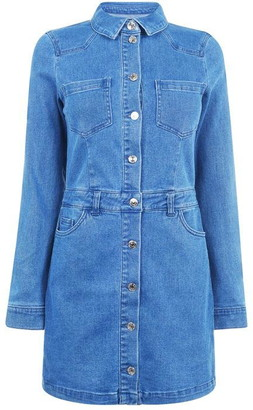 Only Cleva Denim Dress Womens