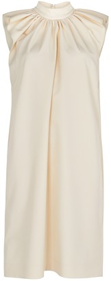 Victoria Victoria Beckham Cream ruffled mini dress