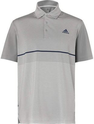 adidas Ultimate365 Striped Stretch-Jersey Golf Polo Shirt