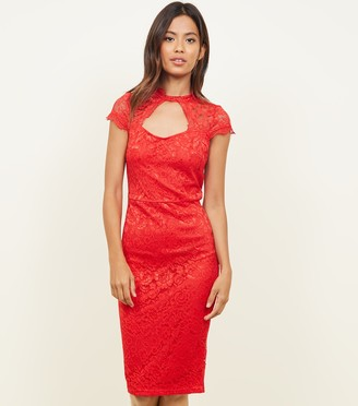 New Look AX Paris Lace Cut Out Bodycon Dress