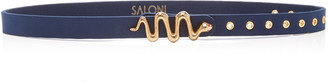 Saloni Serpentine Leather Belt