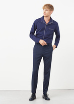 MANGO MAN Slim-Fit Wool Suit Trousers