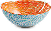 Certified International Chelsea Collection Aqua Swirl Oval Bowl