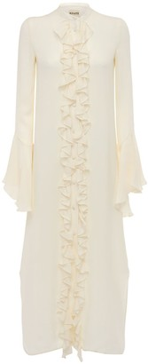 KHAITE Callen Silk Georgette Dress