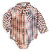 Hartstrings Baby's Yarn-Dyed Plaid Cotton Bodysuit