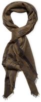 """Alexander McQueen Cotton Skull Square Scarf, 55"""" x 55"""""""