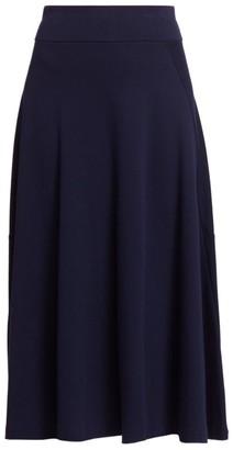 Joan Vass Draped Midi Skirt