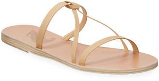 Ancient Greek Sandals Spetses Flat Leather Knot Sandals