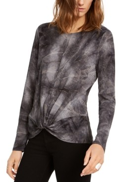 INC International Concepts Inc Twisted Tie-Dye T-Shirt, Created for Macy's