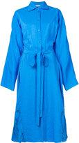 Nina Ricci loose-fit belted shirt dress - women - Viscose - 34