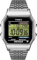 Timex 80 | Vintage Silver-Tone Dial & Steel Band | Digital Watch TW2P48300