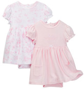 Little Me Danity 2 Pack Bodysuit Dress (Baby Girls)