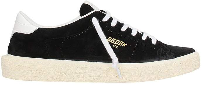 Golden Goose Tennis Sneakers Suede Black