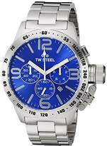TW Steel Men's CB14 Analog Display Quartz Silver Watch by