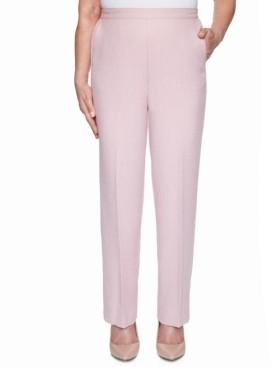 Alfred Dunner Petite Primrose Garden Textured Pull-On Pants