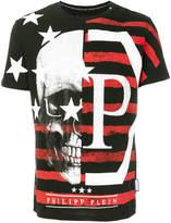 Philipp Plein Skull flag print T-shirt