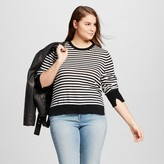 Who What Wear Women's Plus Size High Slit Crew Sweater
