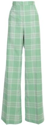 Essentiel Antwerp Visarro Wide Long Leg Checked Pants