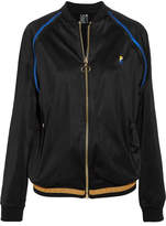 P.E Nation The 100m Dash Satin Bomber Jacket - Black