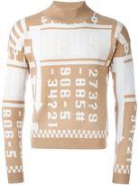 J.W.Anderson 'News' intarsia jumper
