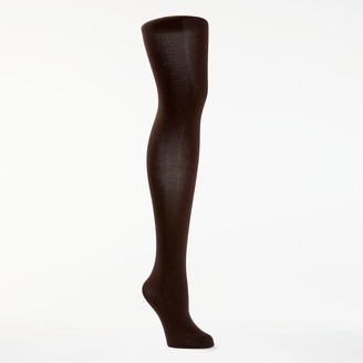 John Lewis & Partners Egyptian Cotton Velvet Opaque Tights