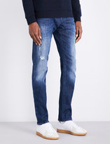 Armani Jeans J06 slim-fit tapered mid-rise jeans