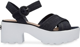 Miu Miu Platform Denim Sandals