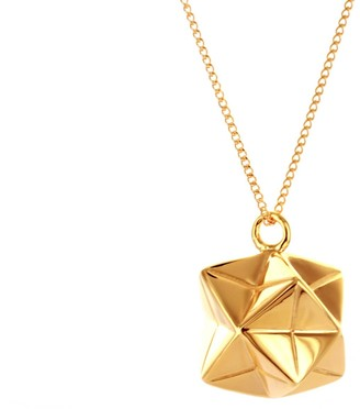 Origami Jewellery Magic Ball Necklace Gold