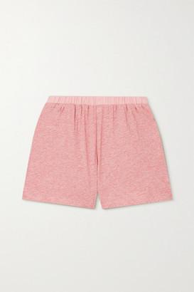 Skin Carlee Melange Pima Cotton-jersey Shorts - Pink