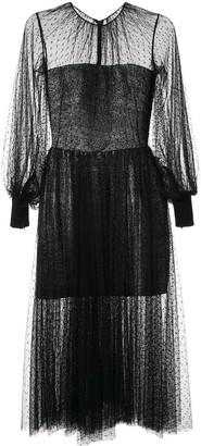 Saiid Kobeisy Mesh Cocktail Dress