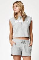 Calvin Klein Cutoff Fleece ID Logo Hoodie