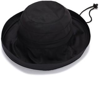Justine Hats Black Wide Brim Cotton Hat