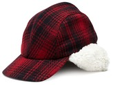 Crown Cap Buffalo Check Trapper with Shearling Lining