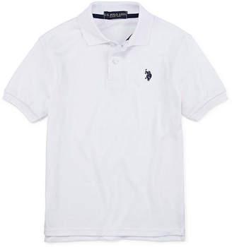 U.S. Polo Assn. Boys Short Sleeve Embroidered Polo Shirt - Big Kid