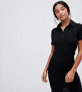 Asos DESIGN Petite mini polo shirt dress with babylock hem