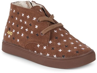 Akid Little Girl's & Girl's Knight Plus Sign Suede Chukka Sneakers
