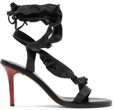 Isabel Marant Ansel Ruffle-trimmed Leather Sandals - Black