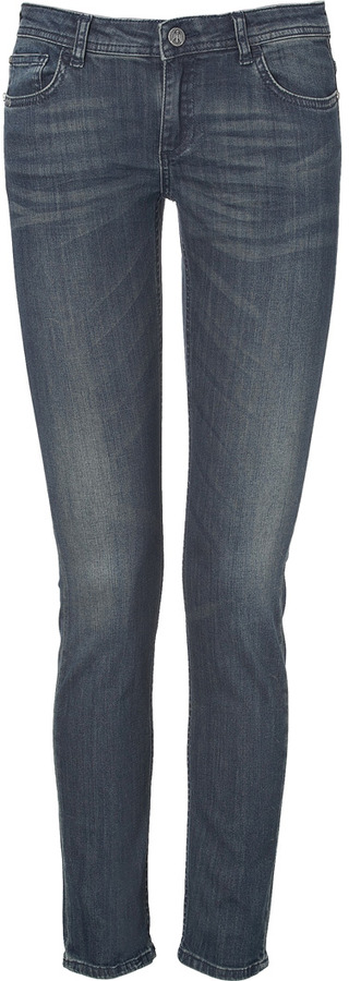 Faith Connexion Slim Fit Jeans with Python Print Inside in Blue
