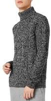 Topman Textured Turtleneck Sweater