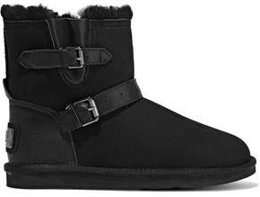 Australia Luxe Collective Machina Shearling-lined Leather-trimmed Suede Snow Boots