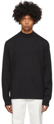 Acne Studios Black Mock Neck Long Sleeve T-Shirt