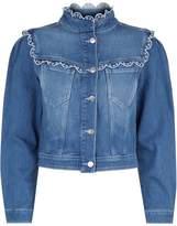 Claudie Pierlot Broderie Anglaise Denim Jacket