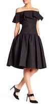 Mac Duggal Strapless Pleated Dress