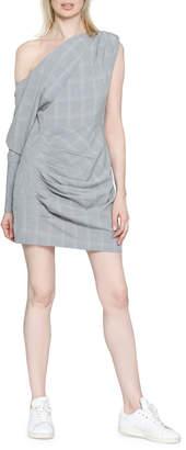 Walter Baker Lindsey Off-the-Shoulder Check Sheath Dress