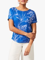 Phase Eight Anwen Orchid Print Cotton Top